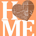 Miami Street Map Home Heart - Miami Florida Road Map In A Heart by Jurq Studio