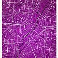 Munich Street Map - Munich Germany Road Map Art On Colored Backg by Jurq Studio