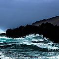 Ocean Foam In Fury by Edgar Laureano