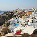 Oia Village Santorini Greece by Carole-Anne Fooks