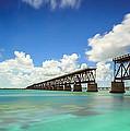 Old Bahia Honda Bridge Florida Keys by Hans- Juergen Leschmann