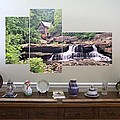 3-panel - Glade Creek Grist Mill by Gordon Elwell