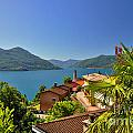 Panoramic View Over An Alpine Lake by Mats Silvan