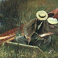 Paul Helleu Sketching With His Wife by John Singer Sargent