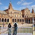 Plaza De Espana Pavilion In Seville by Artur Bogacki