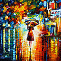 Rain Princess by Leonid Afremov