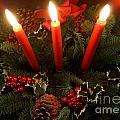 3 Red Candles by Kerri Mortenson