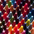Rows Of Multicolored Crayons  by Jim Corwin
