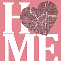 San Antonio Street Map Home Heart - San Antonio Texas Road Map I by Jurq Studio