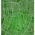 Santiago Street Map - Santiago Chile Road Map Art On Colored Bac by Jurq Studio