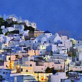 Serifos Town During Dusk Time by George Atsametakis