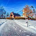 Snow Around Billy Graham Library After Winter Storm by Alex Grichenko