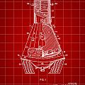 Space Capsule Patent 1959 - Red by Stephen Younts