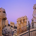 Spain. Barcelona. Mil� House Or The by Everett