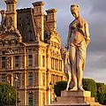Statue Below Musee Du Louvre by Brian Jannsen