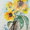 Sunflowers by Ismeta Gruenwald