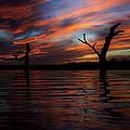 Sunset Over Lake by Trevor Leeper