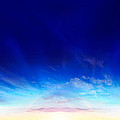 Sunset Over The Sea by Panoramic Images