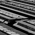 Switch Yard For Box Cars by Jim Corwin