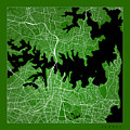 Sydney Street Map - Sydney Australia Road Map Art On Color by Jurq Studio