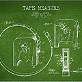 Tape Measure Patent Drawing From 1906 by Aged Pixel