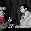 Ted Degrazia Dick Mayers Kvoa Tv Studio Polaroid By News Director Garry Greenberg January 1966 by David Lee Guss