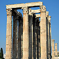 Temple Of Olympian Zeus In Athens by George Atsametakis
