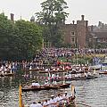 The Olympic Torch Leaves Hampton Court On The Final Leg Of Its J by Julia Gavin