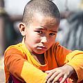 Uighur Child At Kashgar Market Xinjiang China by Matteo Colombo