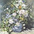 Vase Of Flowers by Pierre-Auguste Renoir
