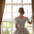 Victorian Woman At A Window by Lee Avison