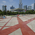 View From Peoples Park, Shanghai by John Shaw