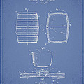 Vintage Beer Keg Patent Drawing From 1898 - Light Blue by Aged Pixel
