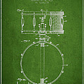 Snare Drum Patent Drawing From 1939 - Green by Aged Pixel
