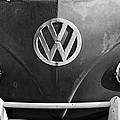 Volkswagen Vw Bus Front Emblem by Jill Reger