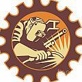 Welder Worker Welding Torch Retro by Aloysius Patrimonio