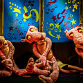 3 Wet Pink Panthers by Bob Orsillo