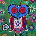 Whimsical Wise Owl by Pristine Cartera Turkus