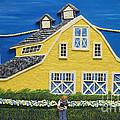 Yellow Barn by Anne Klar