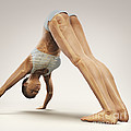 Yoga Downward Facing Dog Pose by Science Picture Co