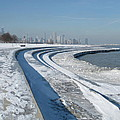 31st Beach Shoreline In Winter by BJ Karp