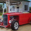 32 Ford At Filling Station by Paul Kuras