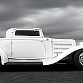 32 Ford Deuce Coupe In Black And White by Gill Billington