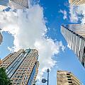 Skyline And City Streets Of Charlotte North Carolina Usa by Alex Grichenko