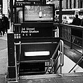34th Street Entrance To Penn Station Subway New York City by Joe Fox
