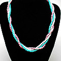 3584 Three Strand Twisted Shell Necklace by Teresa Mucha