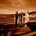 3woodenmen - Okanagan Lake by Guy Hoffman