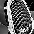 1935 Alfa Romeo 8c-35 Grille Emblem -0006bw by Jill Reger