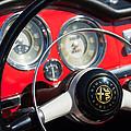 1961 Alfa Romeo Giulietta Spider Steering Wheel Emblem -1239c by Jill Reger