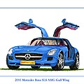 2010 Mercedes Benz S L S Gull-wing by Jack Pumphrey
